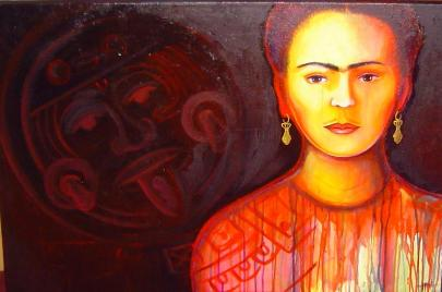 Frida Kahlo, Aztec, Dolores Gonzalez Haro, Expresiones de Arte, Expresiones, Expressions, Dolores Gonzalez Haro, Expresiones de Arte, #Chicana, Our Lady, #Virgen Mary, #Mexican Art